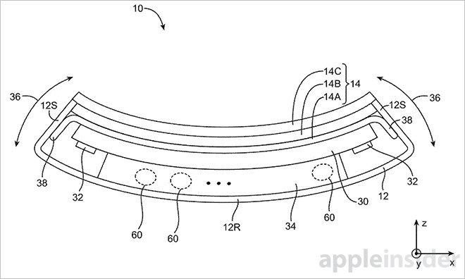Flexible iPhone 特許