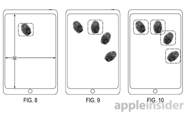 タッチパネルの指紋認証