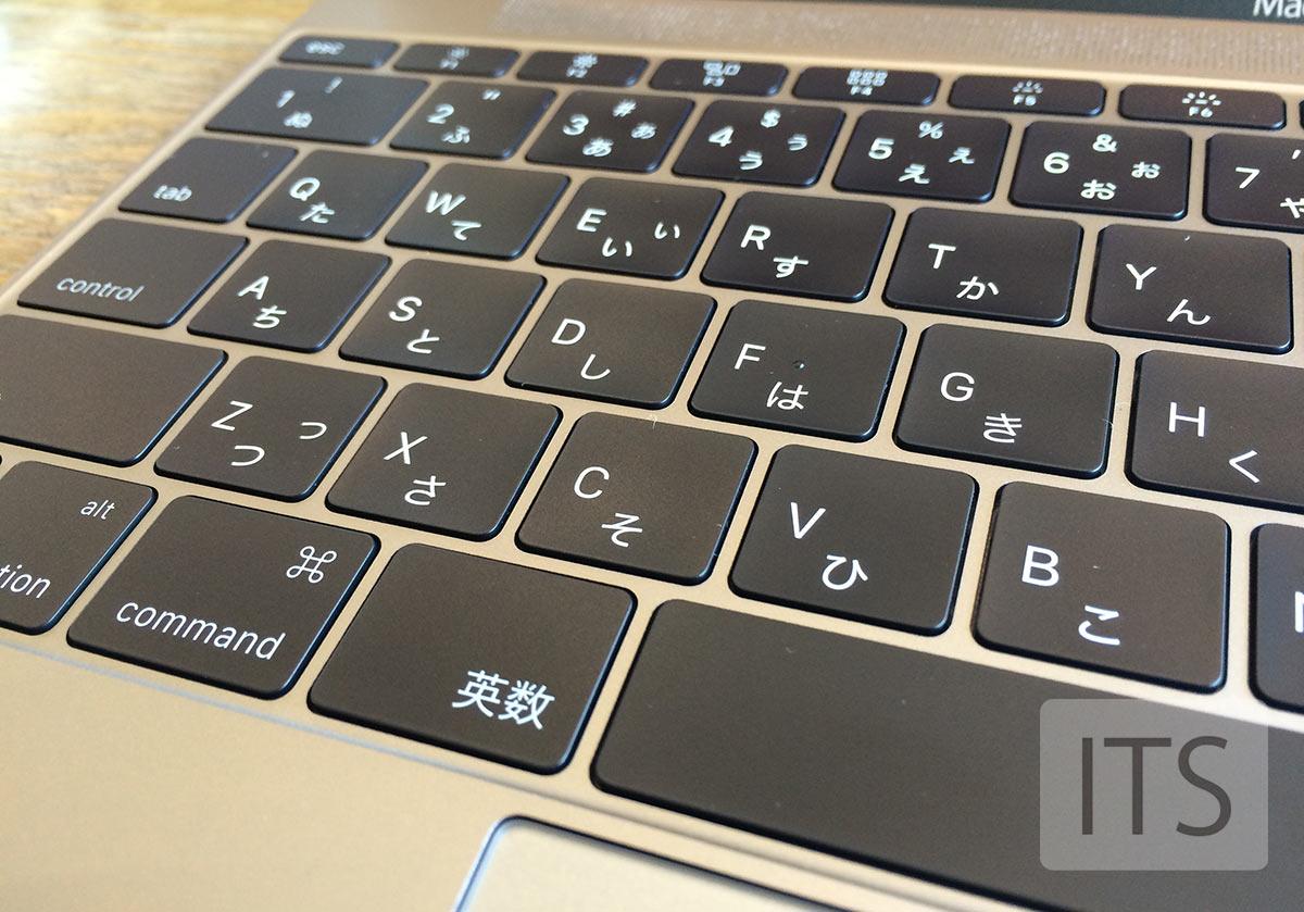 MacBook バタフライ構造キーボード