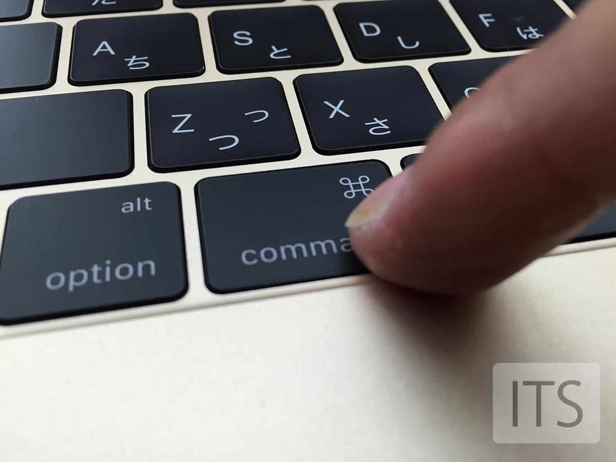 薄くなったキーボードを押してみた