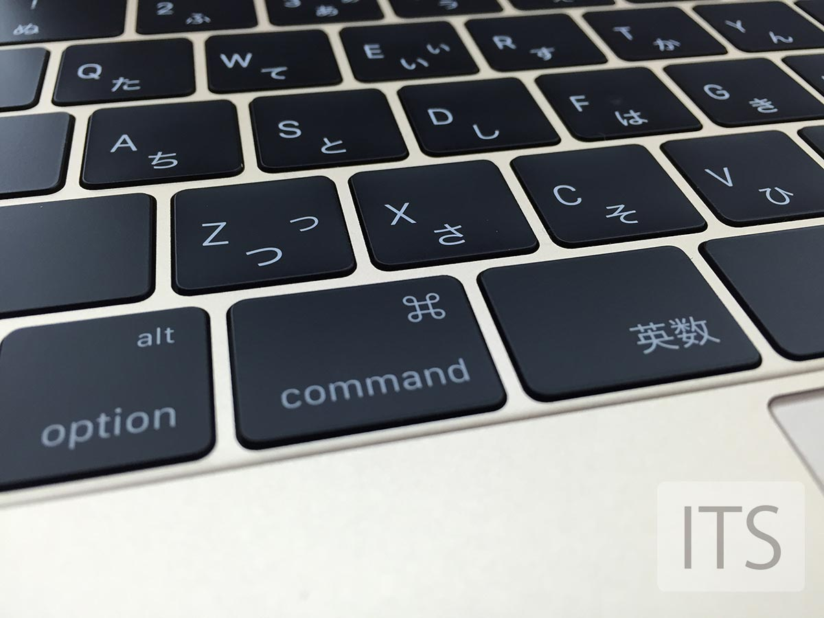 新しい薄くなったキーボード MacBook