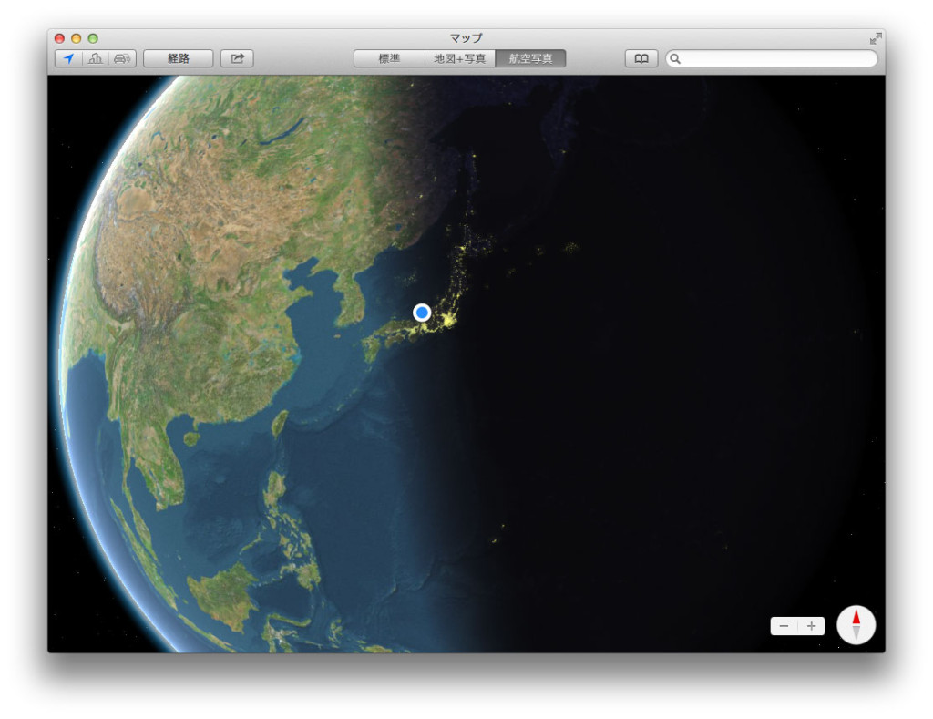 OS X 10.9 マップ