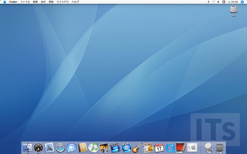 Mac OS X Tiger 10.4 デスクトップ画面