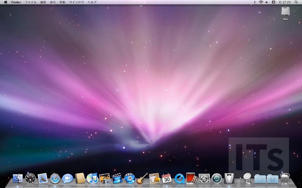 Mac OS X 10.5 デスクトップ画面