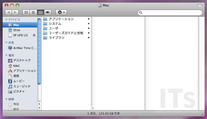 Mac OS X 10.5 ファインダー