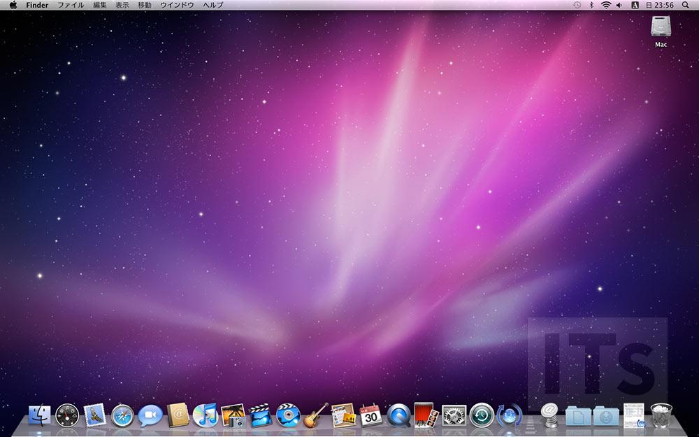 OS X 10.6 Snow Leopard デスクトップ画面