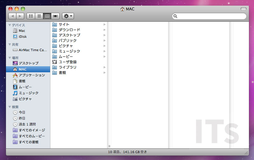 OS X 10.6 Snow Leopard ファインダー