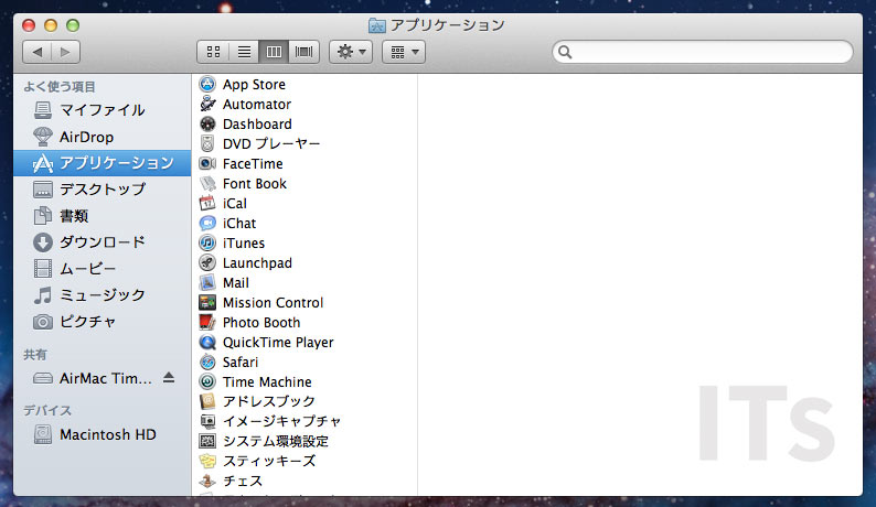 OS X 10.7 Lion ファインダー