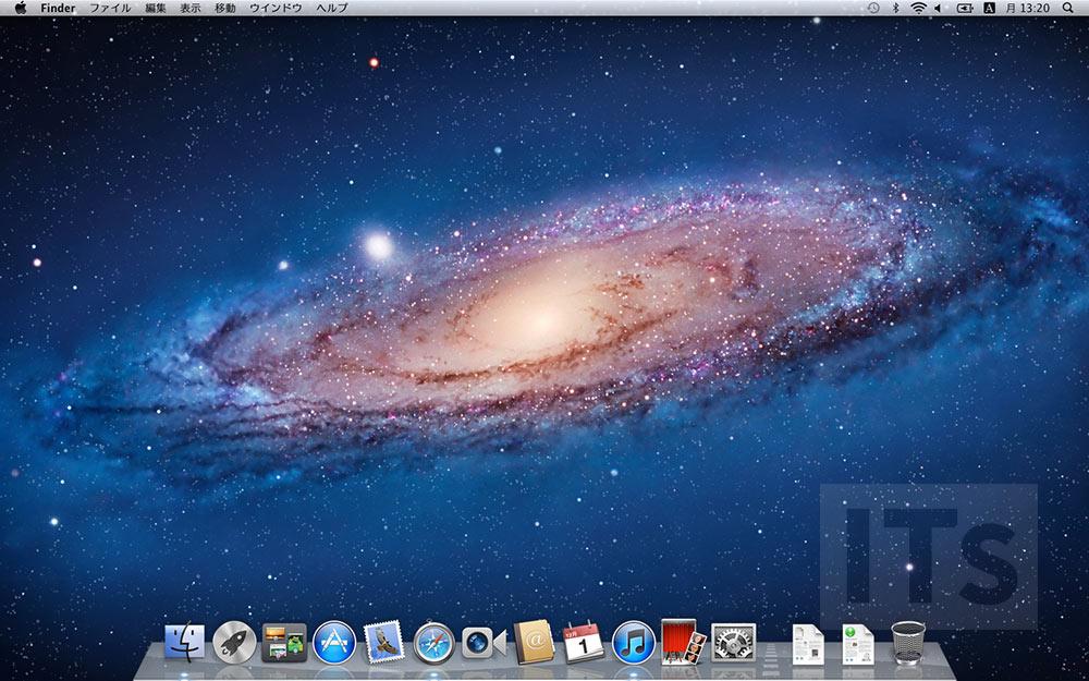 OS X 10.7 Lion デスクトップ画面