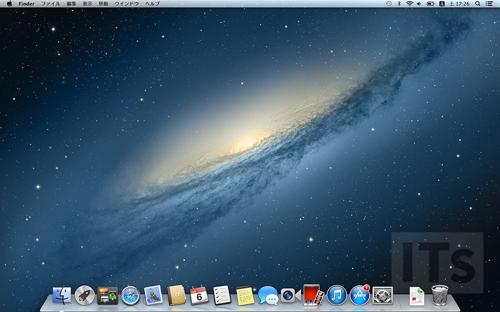 OS X 10.8 Mountain Lion デスクトップ画面