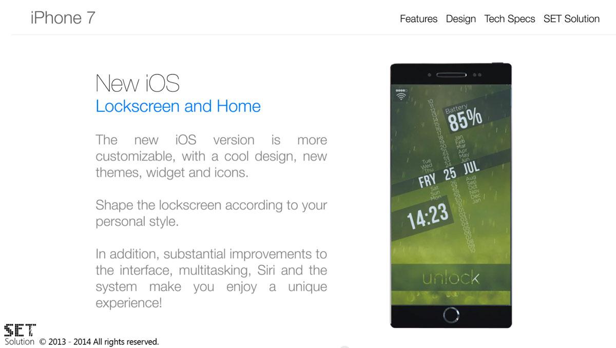 iPhone 7 カスタマイズ ホーム画面
