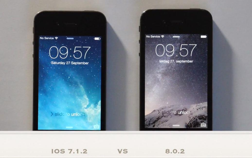 iPhone 4s iOS 8 vs iOS 7.1