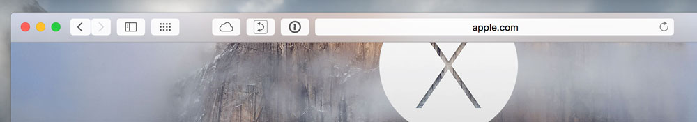 Safari ツールバー 透過処理