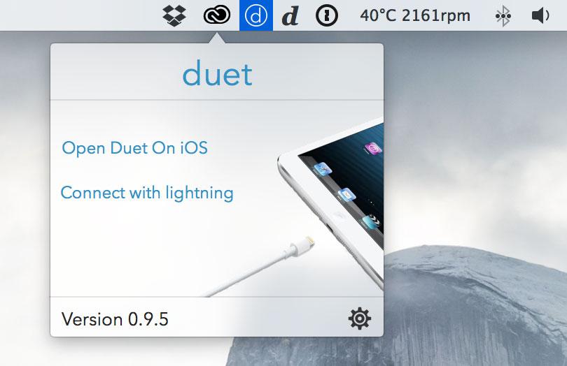 Duet Display Mac側の設定画面