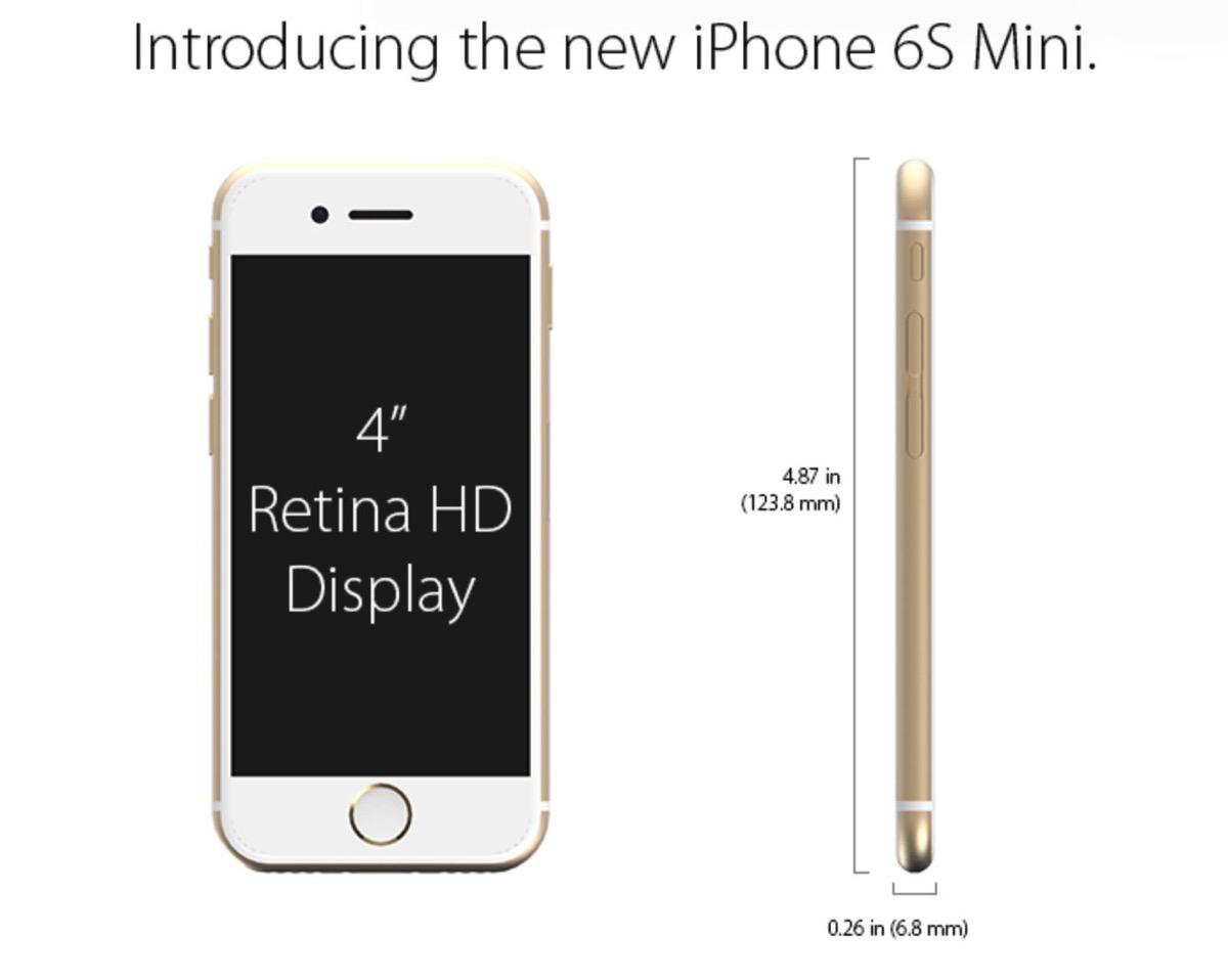 4インチ iPhone 6s コンセプトデザイン