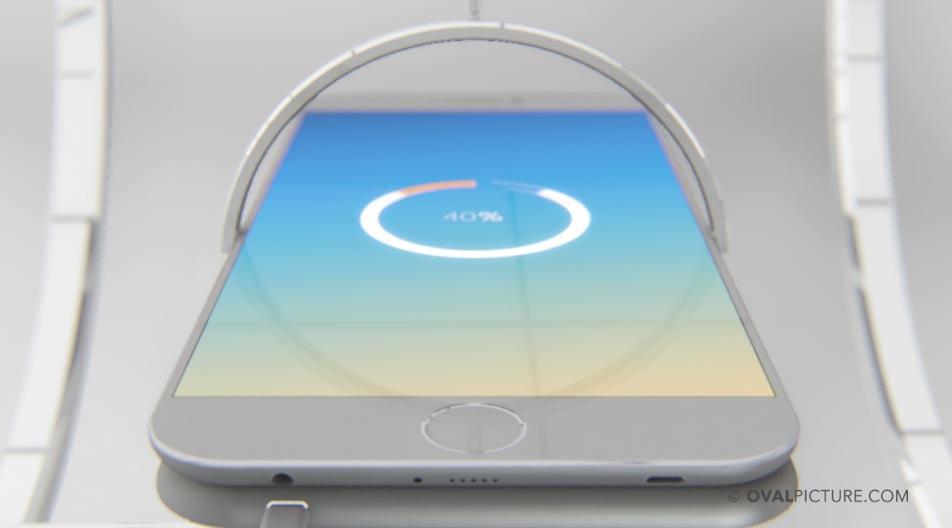 iPhone 7 コンセプトデザイン ワイヤレス充電