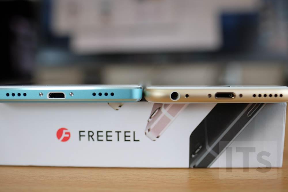 iPhone 6sとFREETEL REI 比較