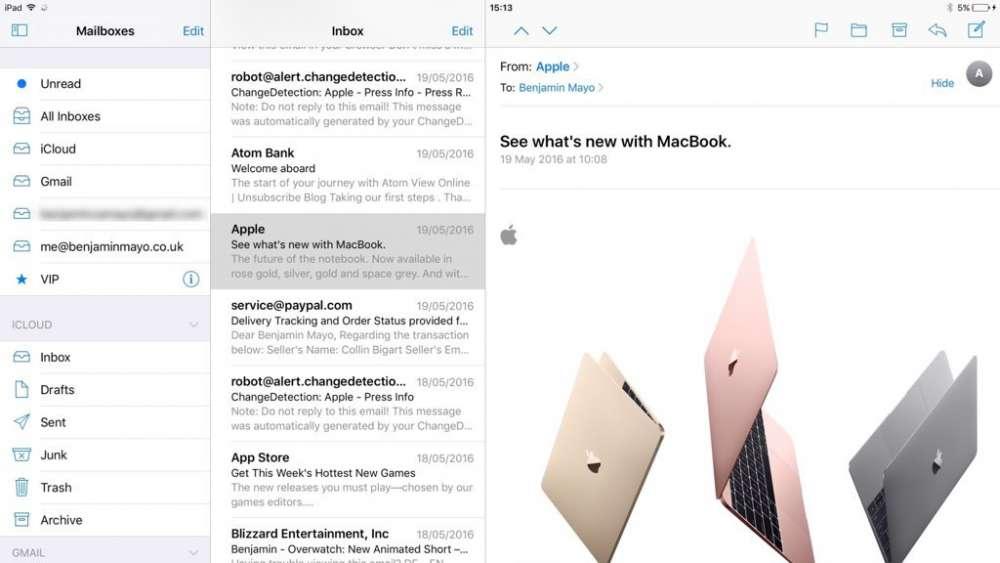 IOS10 メールアプリ