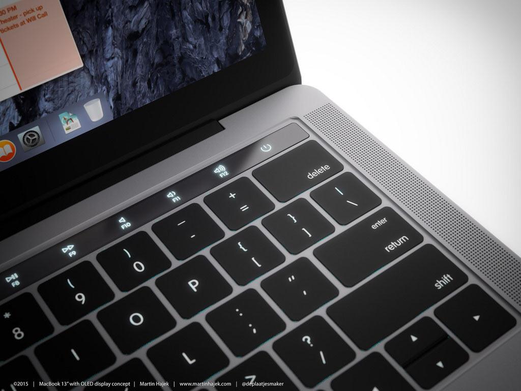 MacBook Pro 2016 タッチバー コンセプト1
