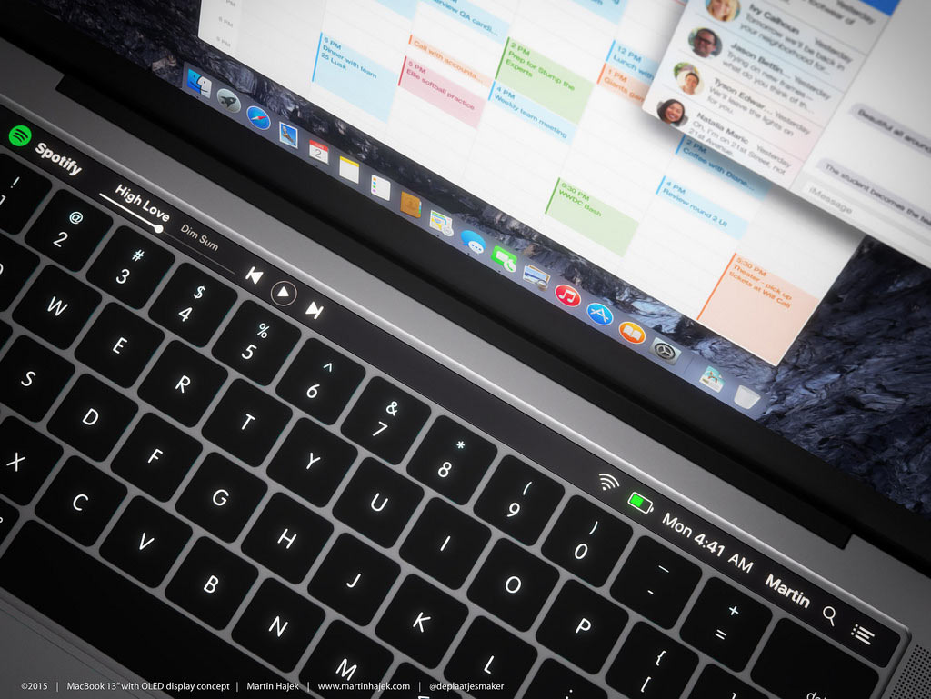 MacBook Pro 2016 タッチバー コンセプト3