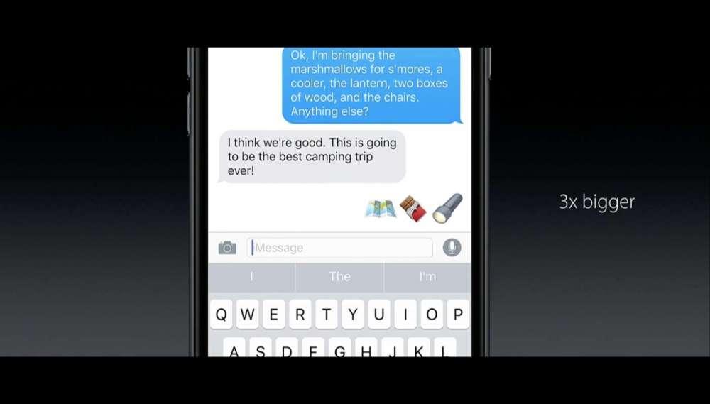 iOS10 3倍の大きさの絵文字