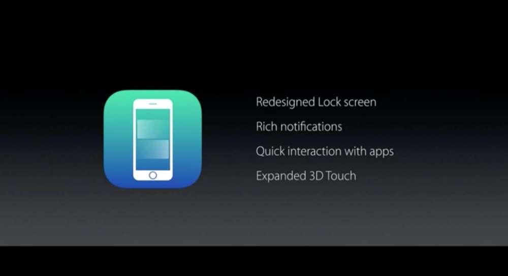 iOS10 ロック画面