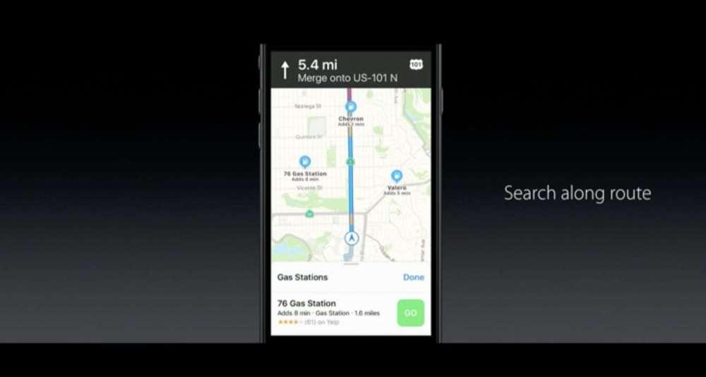 iOS 10 地図アプリ