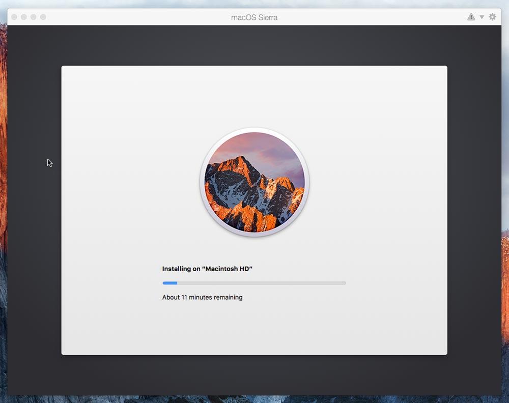 macOS sierra beta インストール