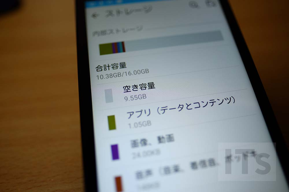 Androidの空き容量