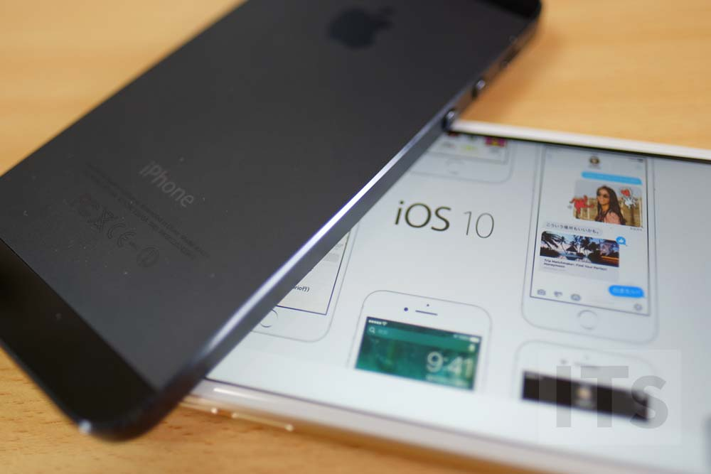 iPhone5 iOS10をインストール