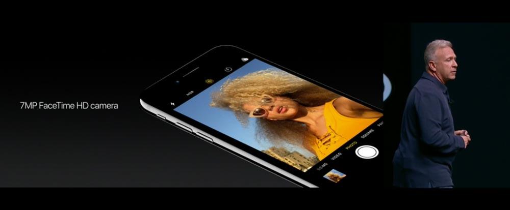 iPhone7 FaceTimeカメラ
