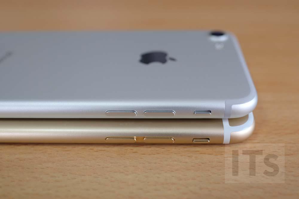 iPhone7とiPhone6s サイドボタン