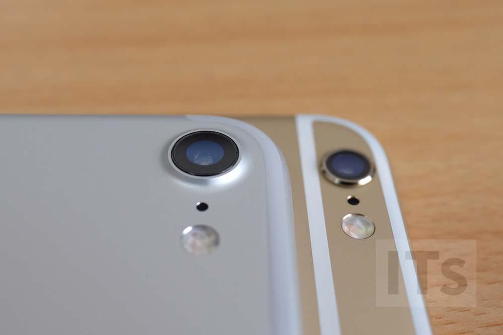 iPhone7とiPhone6sのカメラ部分