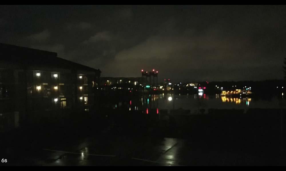 iPhone6s カメラ 夜間