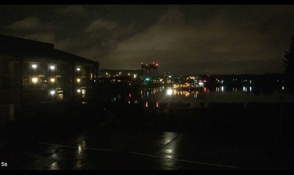 iPhone5s カメラ 夜間