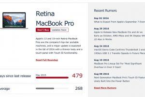 MacBook Proの更新サイクル