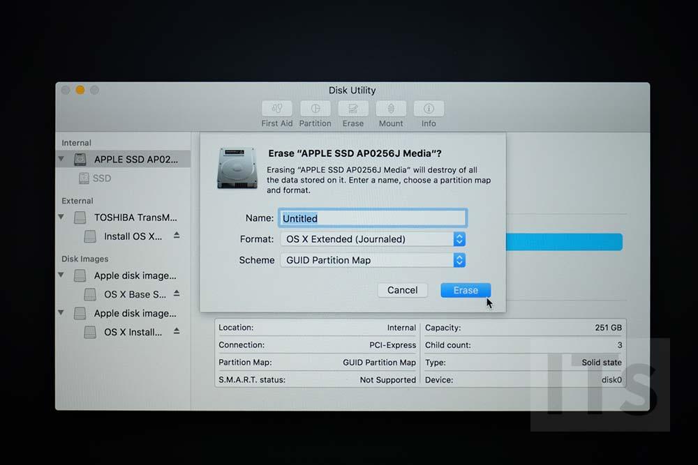 SSDの全消去