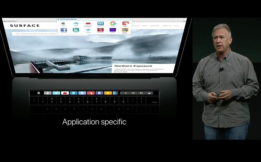 MacBook pro TouchBar(タッチバー)