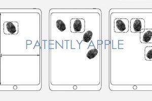 ディスプレイ上で指紋認証