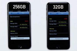 iPhone7 32GBと256GB