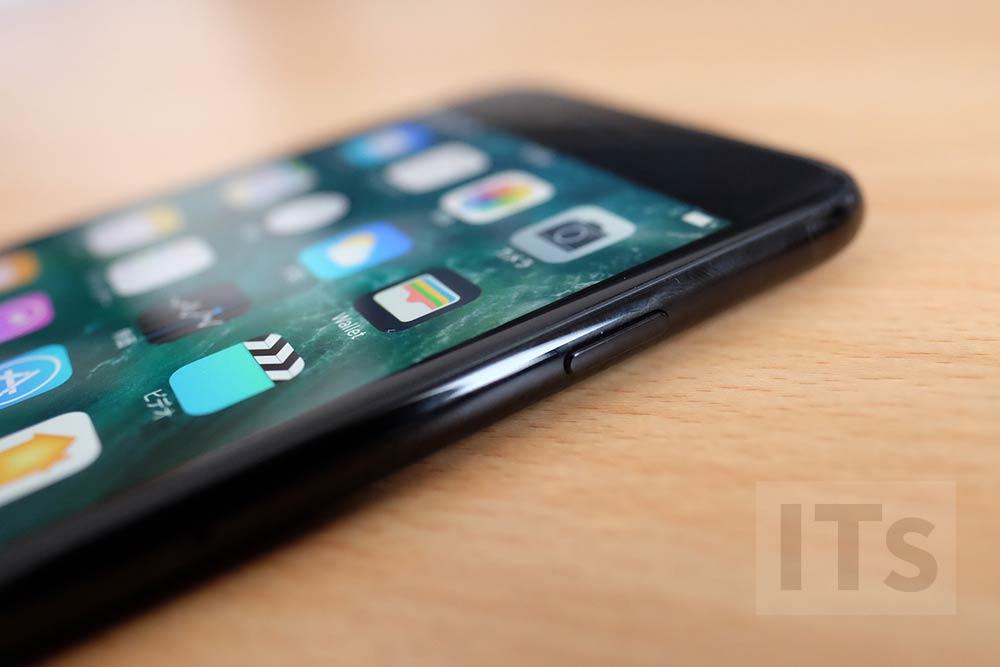 iPhone7 Plus ジェットブラック サイド部分