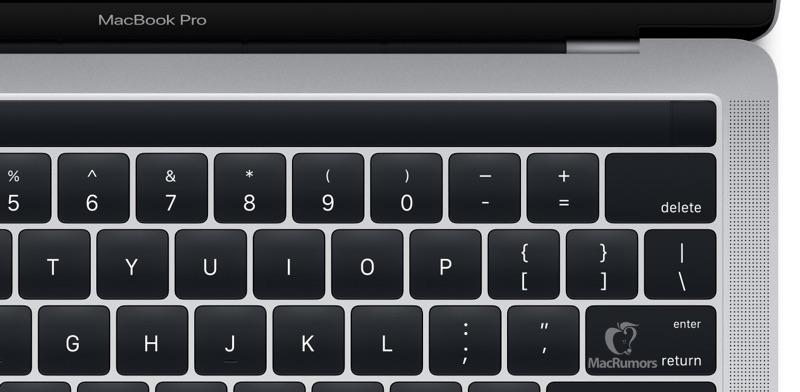 新型MacBook Pro タッチバー