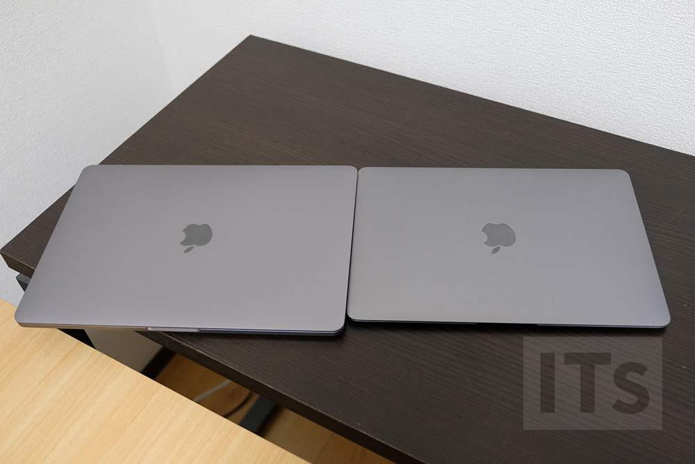 13インチMacBook Proと12インチMacBook サイズの比較