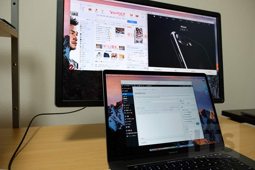 MacBook Pro 15インチと外部ディスプレイ