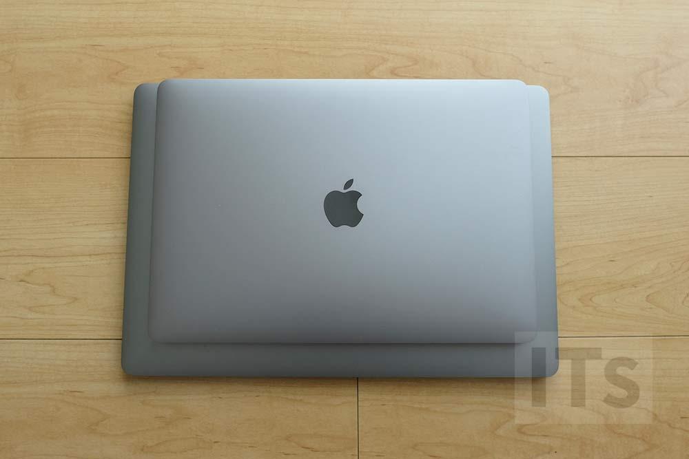 MacBook Pro 13 vs MacBook Pro 15 本体サイズ上