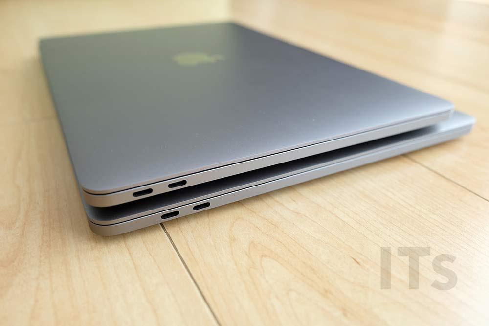 MacBook Pro 13 vs MacBook Pro 15 本体左横