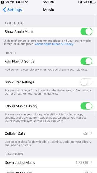 ミュージック iOS10.2.2