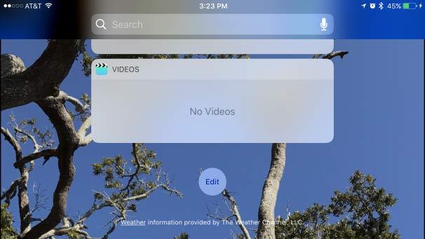 iOS10.2.2 ウェジェット