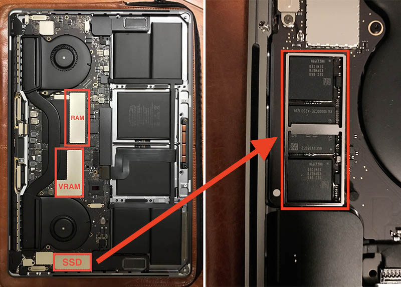 MacBook Pro Late 2016 15インチの内部