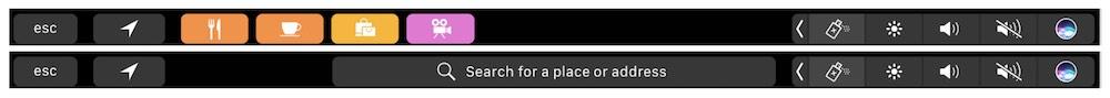 地図アプリ タッチバー